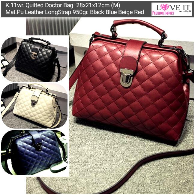 462503262eb Jual Tas Handbag K.11wr. Quilted Doctor Bag Galeri Intan Batam ...