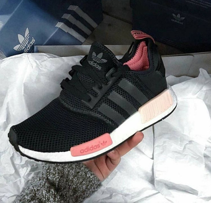 383781e618858 Jual Sepatu Wanita Adidas NMD R1 Black Peach Pink Women - DKI ...