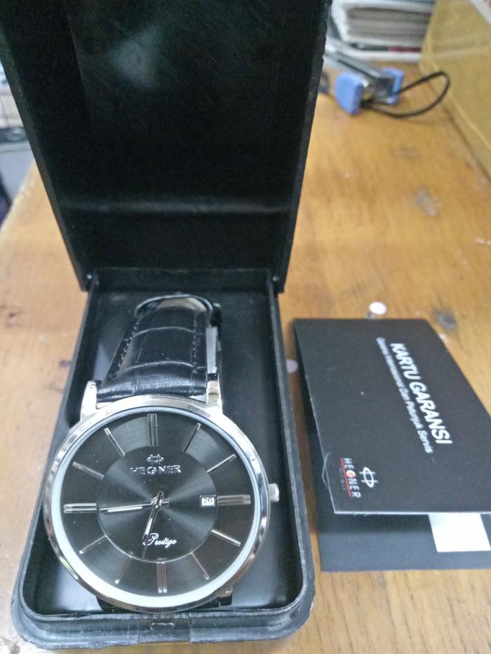 harga Jam tangan cowok kulit silver analog hegner Tokopedia.com