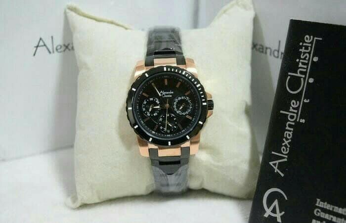 harga Jam tangan wanita alexandre christie 6141 cewek black rosegold Tokopedia.com