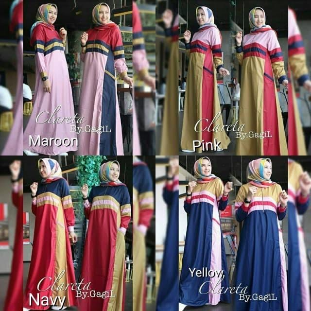 TERMURAH Gamis busui Gamis model baru Jual Baju murah Clareta Gagil D
