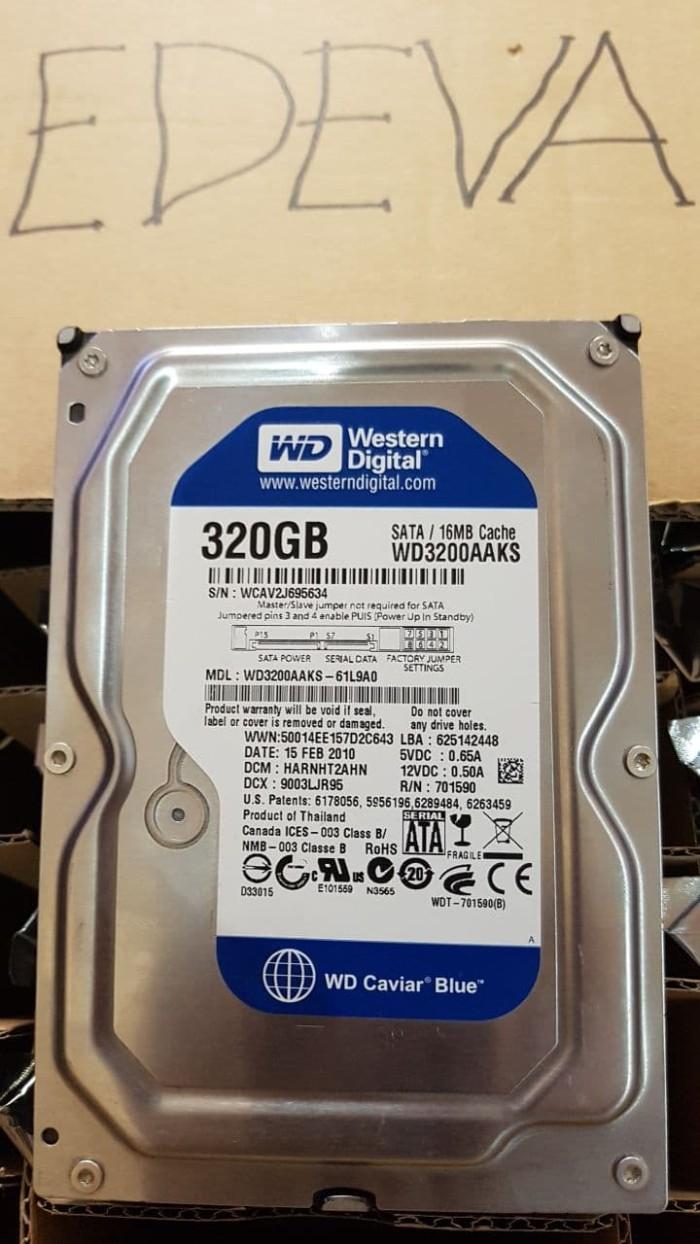 Jual Harddisk Sata Pc Wd Blue 320gb Cek Harga Di Hardisk 320 Gb Hdd Internal Western Digital 35