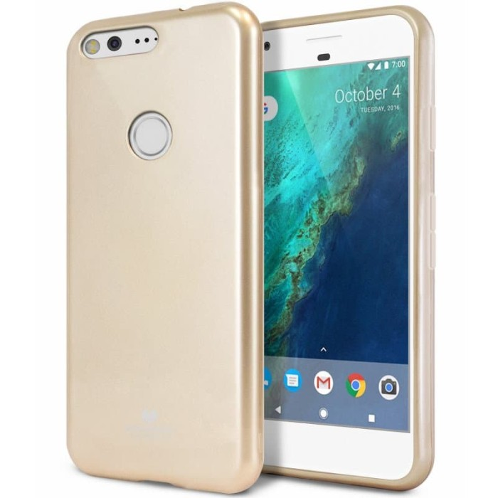 goospery oppo a83 pearl jelly case - gold