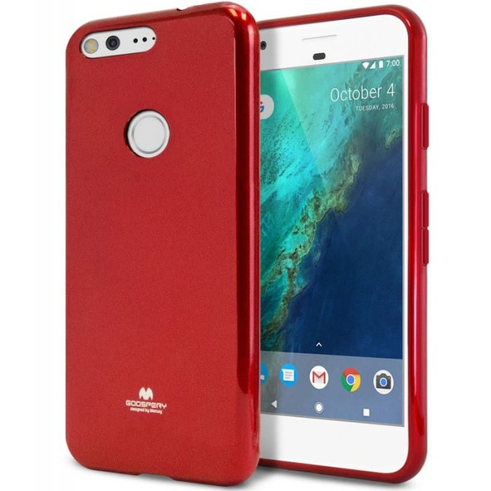 goospery oppo a83 pearl jelly case - red