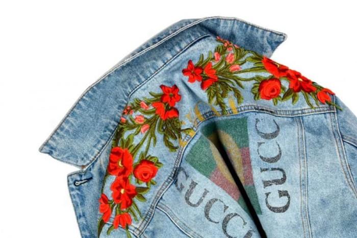 7e4229931 Jual Gucci Floral Embroidered Jean Jacket - Biru, S - Kota Surabaya ...