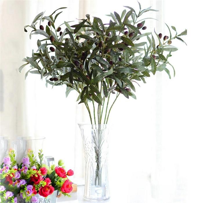harga Artificial plant big olives leaf grass ornament decorations import Tokopedia.com
