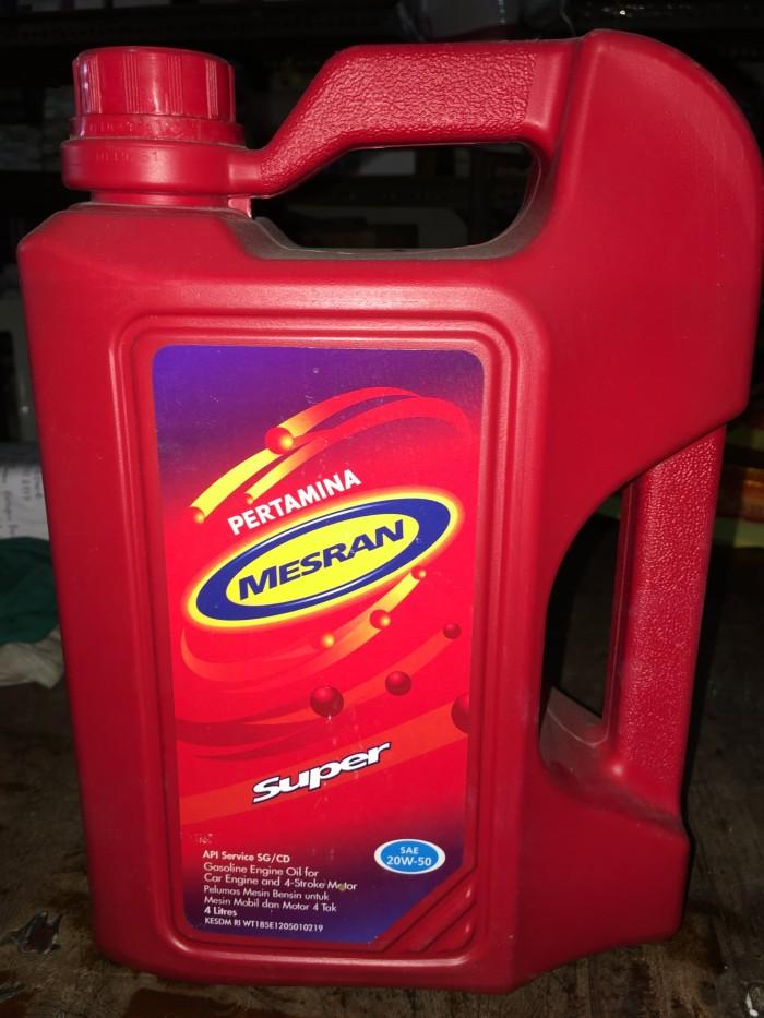 Jual 1 Galon Oli Mesin Pertamina Mesran Super Sae 20w 50 4 Liter Jakarta Barat Bstore86 Tokopedia