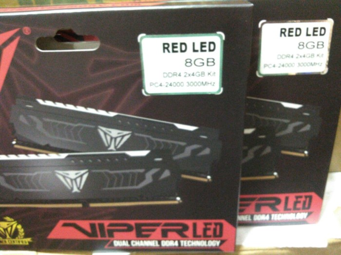 Jual Patriot Viper LED 8GB (2x4GB) DDR4 PC24000 3000MHz Intel XMP AMD Ryzen  - Kota Administrasi Jakarta Utara - Getcomp | Tokopedia