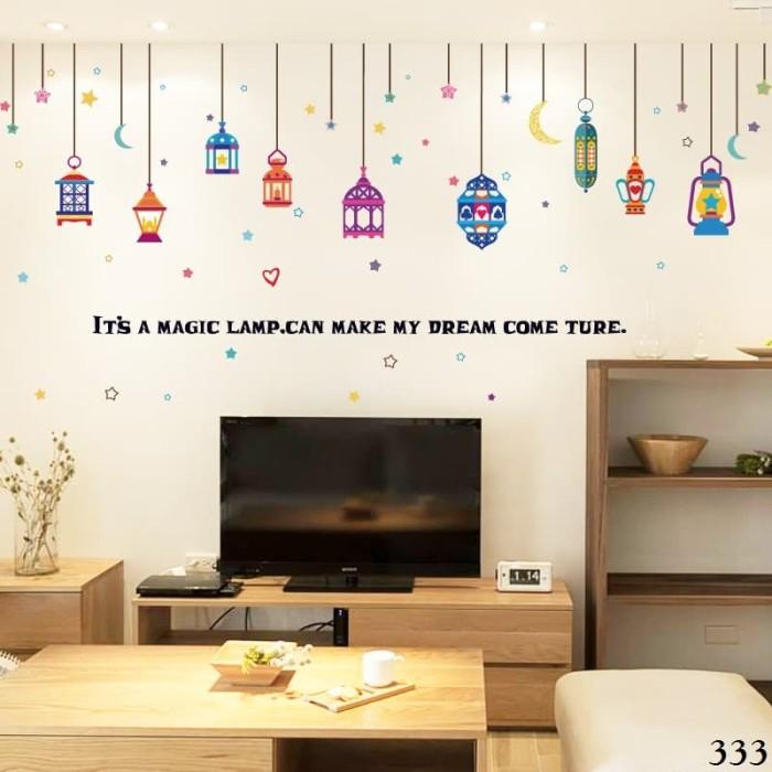 jual wall sticker / wall stiker / wallsticker / dinding 333 ramadhan