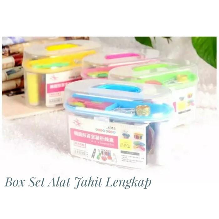 Set Jarum Benang Jahit Set Alat jahit Komplit Sewing Box Tools PROMO - Putih