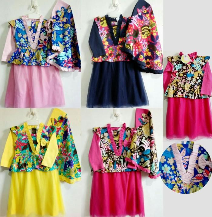 Jual 2-3thn gamis baju muslim anak perempuan cantik tutu floral cloud bird  - ABBASHOP BABY STUFF  5966fd3a13