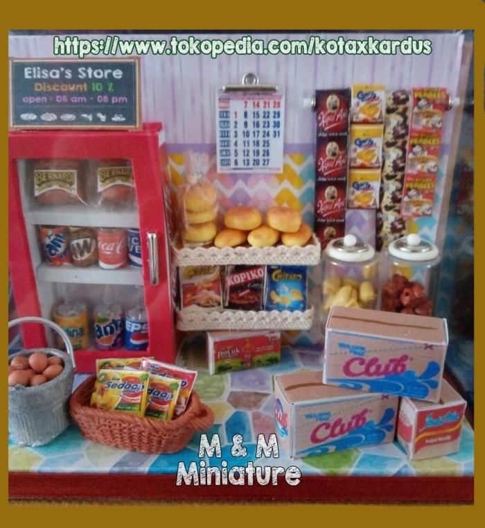harga Miniatur toko dg stationery case hadiah unik bisa custom nama toko Tokopedia.com
