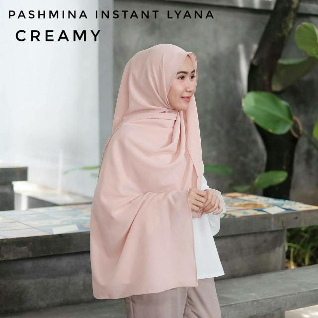 Pashmina instant lyana (pastan diamond crepe hijab instan pashtan) ...