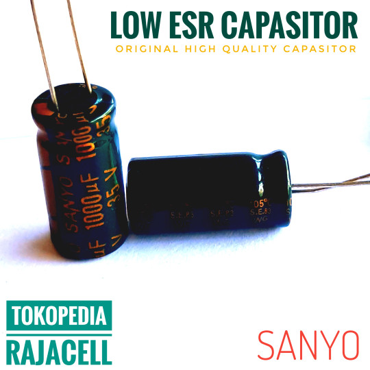 Sanyo 1000uF 35V Low ESR Capasitor Original kapasitor Audio Elko Elco