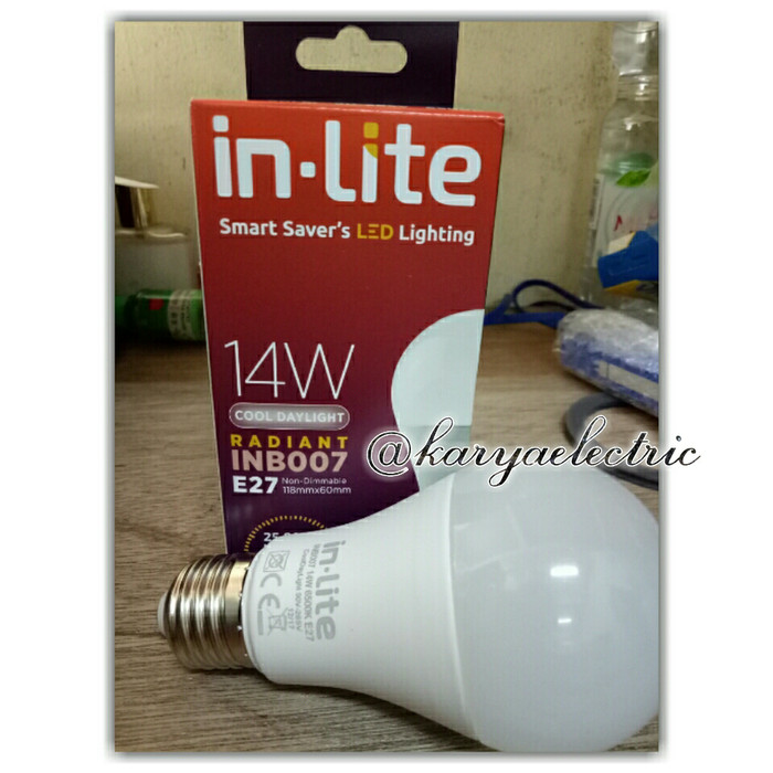 harga Lampu / bohlam led in-lite 14watt original Tokopedia.com