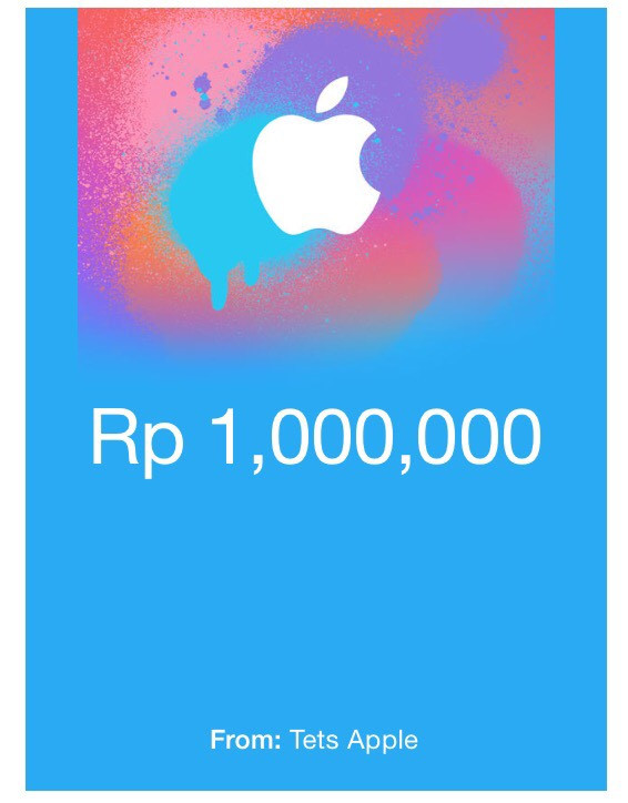 iTunes Gift Card IDR.1,000,000 Region Indonesia