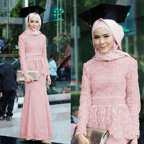 Jual Kebaya Wisuda Amira Modern Muslim Brukat Lapis Furing Jakarta Utara Fashion Terkini Tokopedia