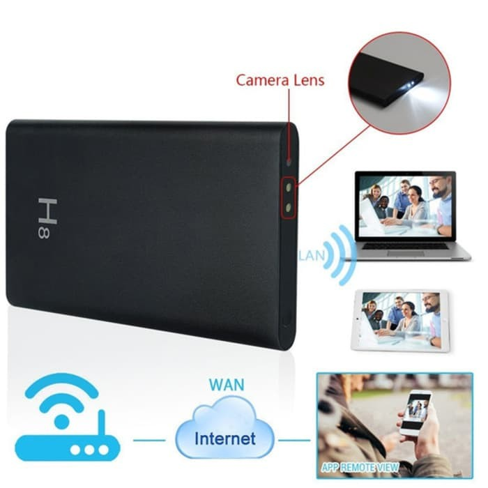 harga Premium h8 hd 1080p night vision hidden spy wifi camera power bank Tokopedia.com