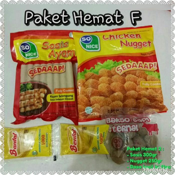 Jual Paket Promo F Makanan Frozen Food Sosis Nugget Nuget Kota
