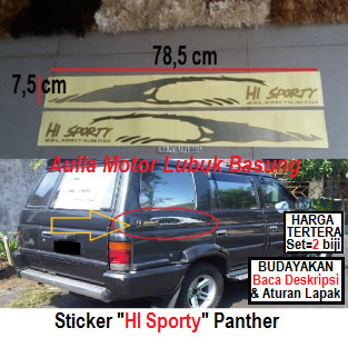 harga Sticker stiker list strip body isuzu panther hi sporty hi-sporty - set Tokopedia.com