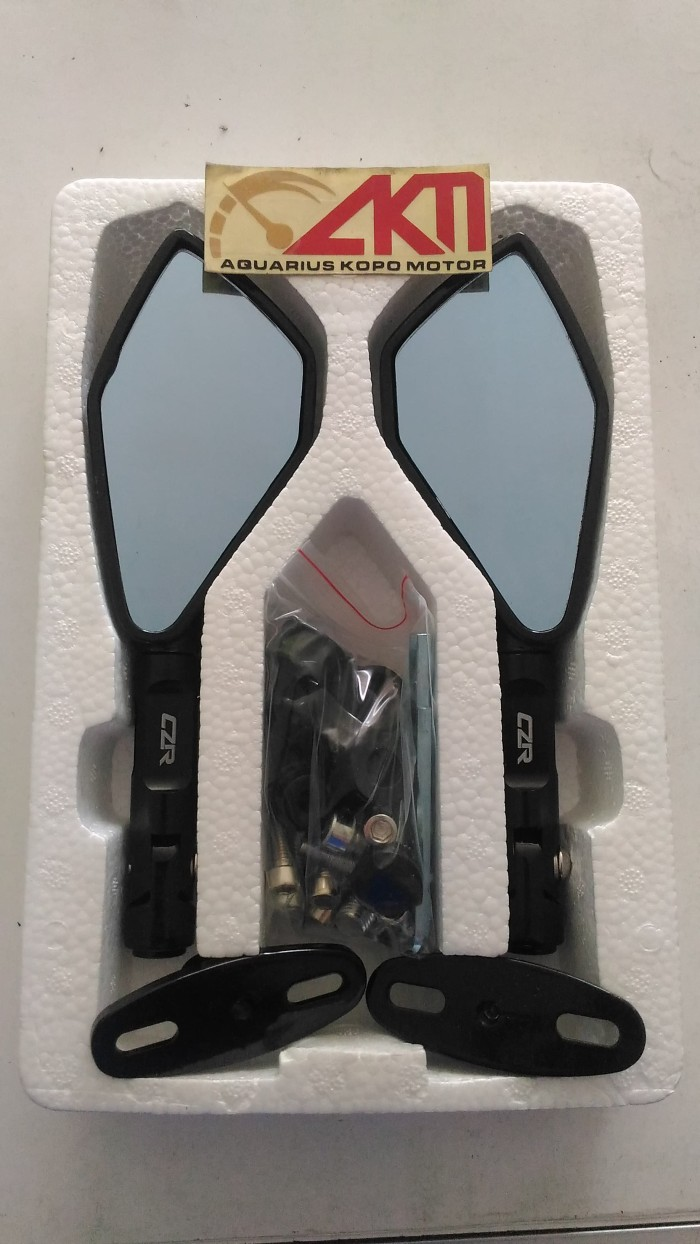 Jual Spion Tomok 2 Full Cnc Kaca Biru Universal Semua Motor Univelsar