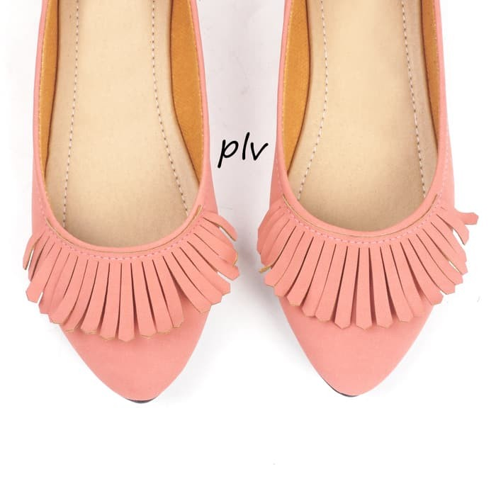 Sepatu flat shoes flatshoes fringe gratica al36 salem