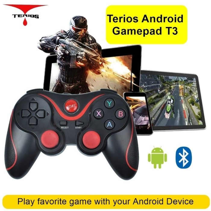 Foto Produk Game Controller T3 Wireless Bluetooth 3.0 Android dari Vision Multicom