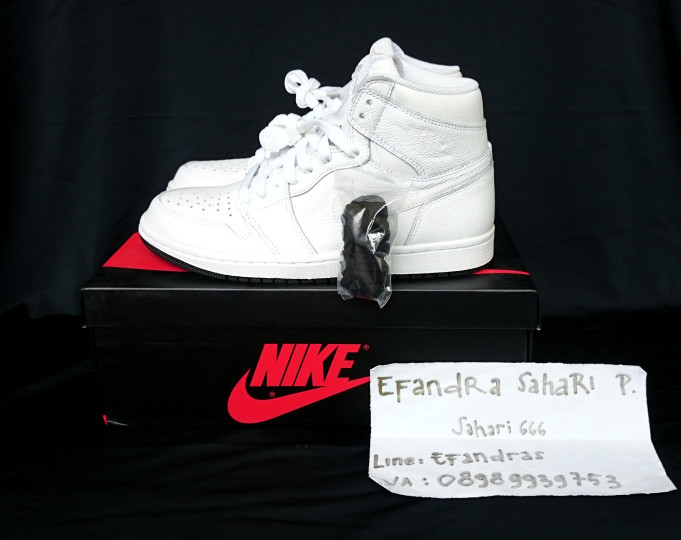 Jual Nike Air Jordan 1 Retro High OG Perforated White - Putih 87de6b529b