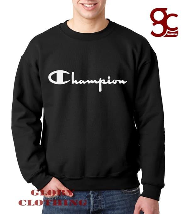 Sweater Champion Hitam - Glory Clothing