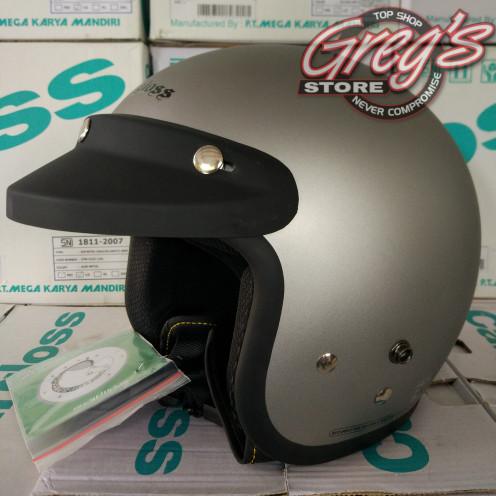 Helm CF Cargloss Retro Bogo Classic Vespa Japstyle Chips Cafe Racer 2