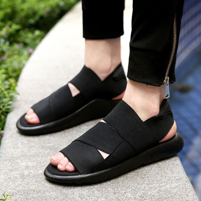 a30317bd3 Jual Sandal Pria - Adidas Y3 Qasa Sandal Full Black - PRM ...