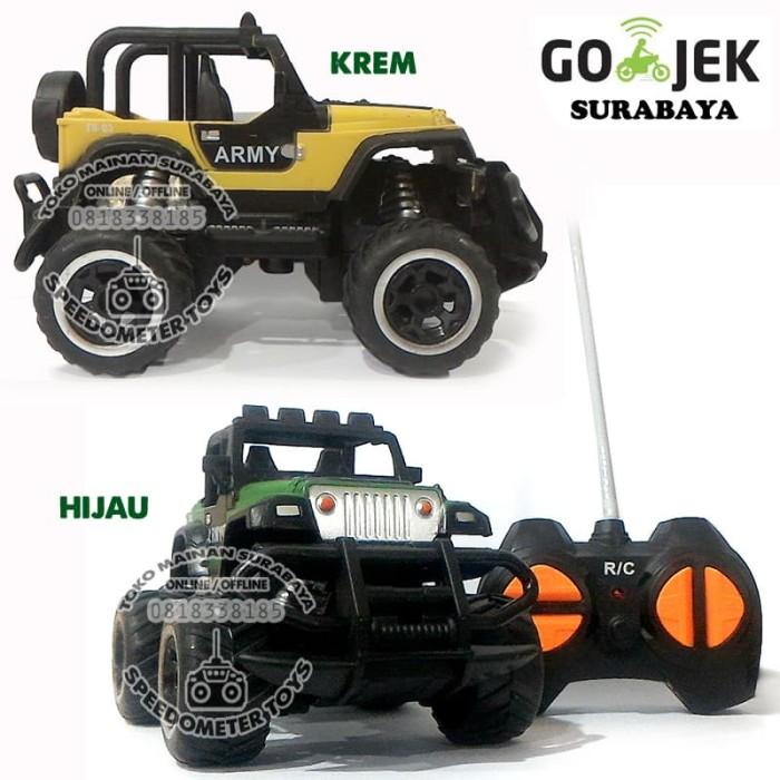 harga Rc mobil jeep military bigfoot mini car   mainan anak remote control Tokopedia.com