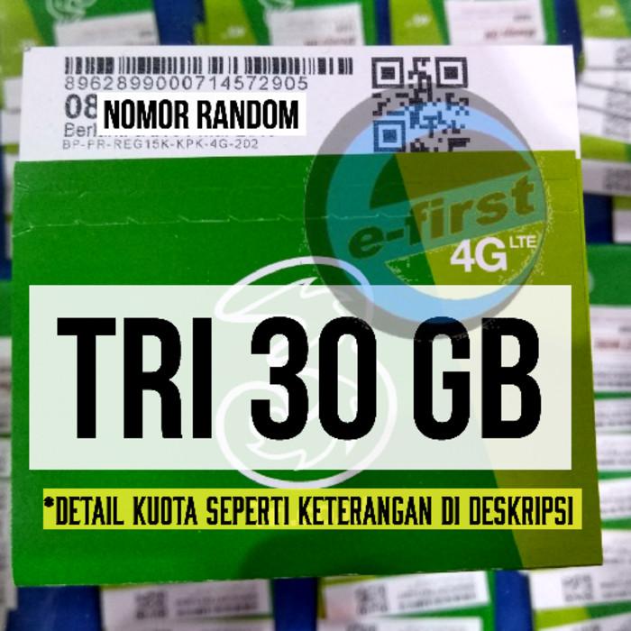 harga Kartu perdana internet tri three aon 3gb 3 gb total 30 gb 1 tahun Tokopedia.com