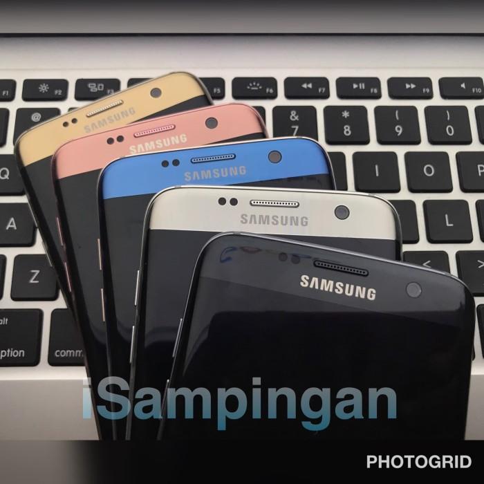 Samsung Galaxy S7 Edge 32Gb Single Fullset Ori Pink Black Rose Gold - Emas