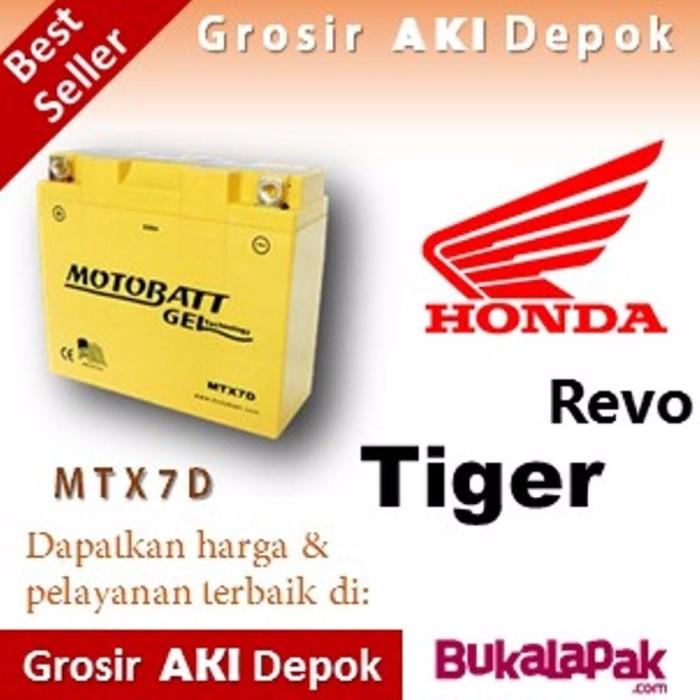 spare part motor Aki kering Tiger Revo Honda MTX7D MOTOBATT accu moto