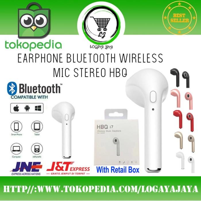 harga Earphone headset handsfree earphone bluetooth wireless mic stereo hbq Tokopedia.com