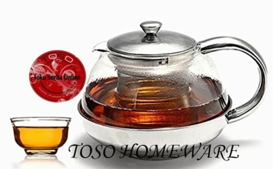 Stainless tea pot with infuser filter…
