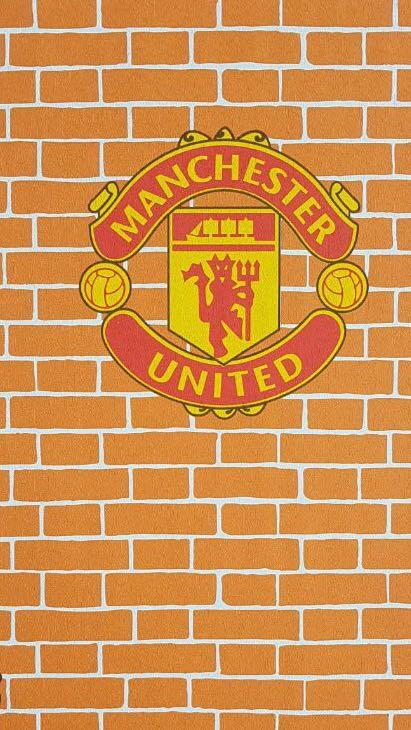 jual wallpaper dinding anak motif club bola manchester united