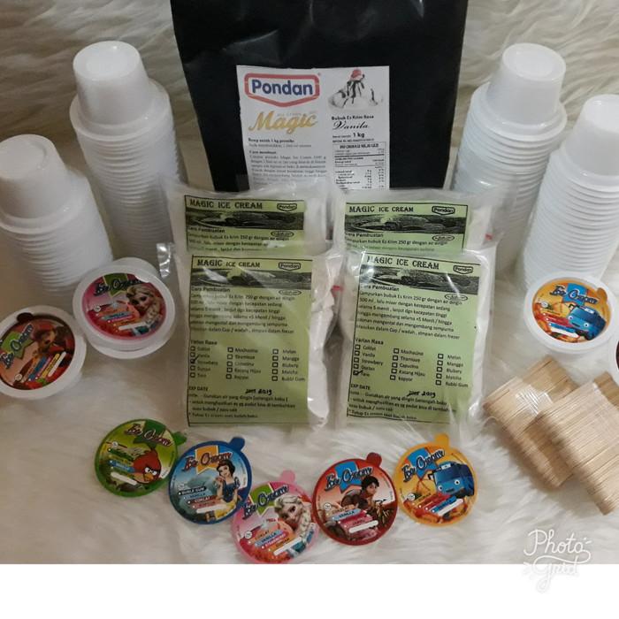 Paket Es Krim Cup 50 ml / Paket Bubuk Es krim Pondan