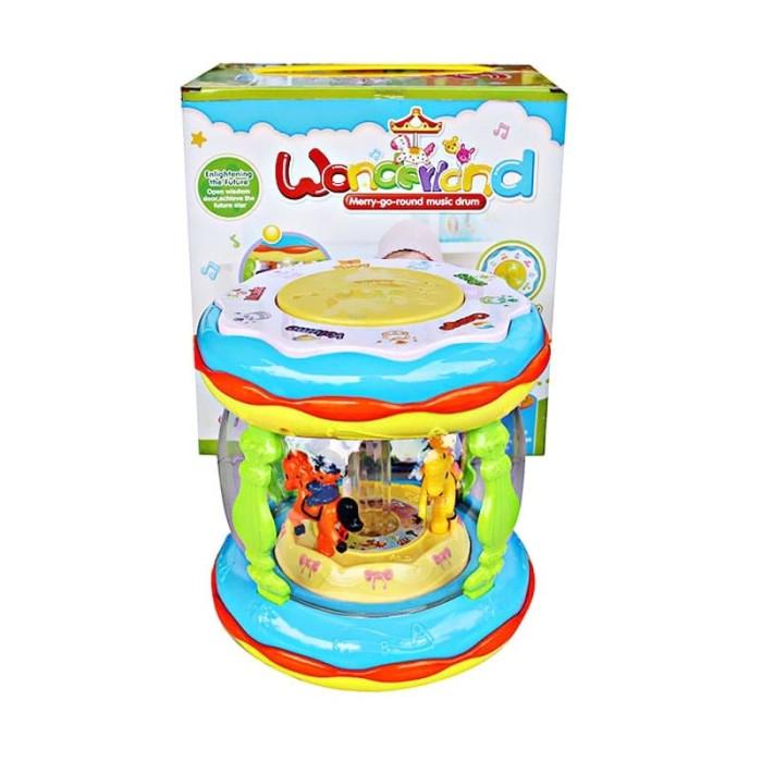 harga Mainan wonderland usb merry go round music drum besar + usb Tokopedia.com