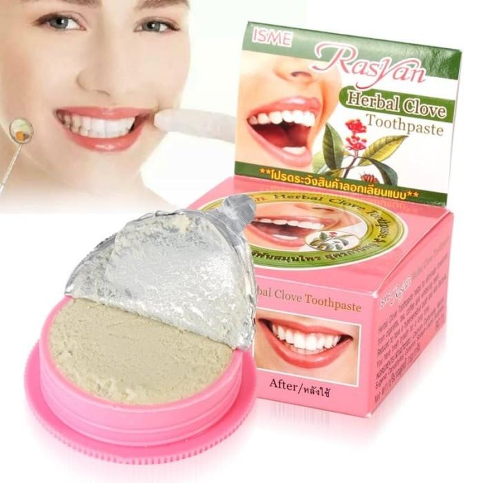 harga Rasyan pasta pemutih gigi herbal 25g Tokopedia.com