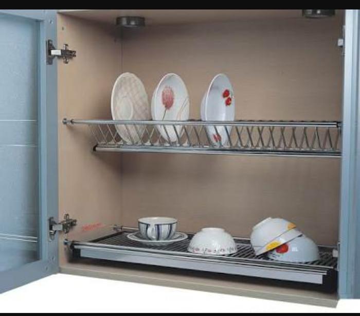 Jual Rak Piring Lemari Kitchen Set Stainles 80cm Dish Rack Dapur