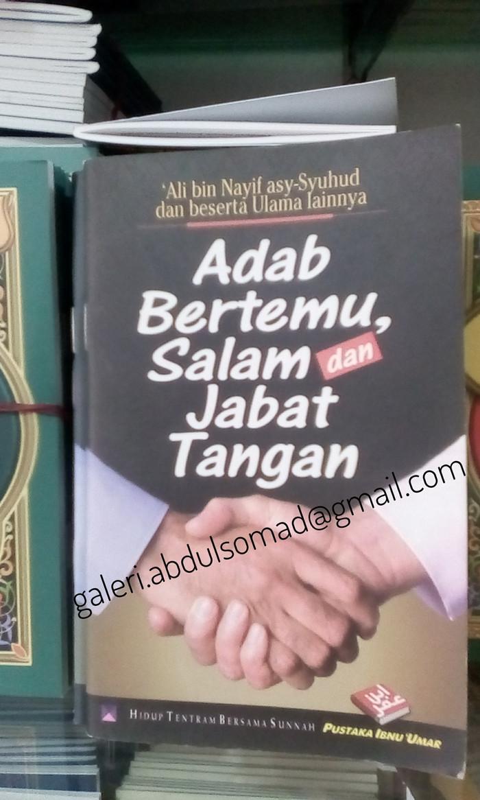 Jual Buku Saku Adab Bertemu Salam Dan Jabat Tangan Kota Bekasi Galeri Abdul Somad SJ