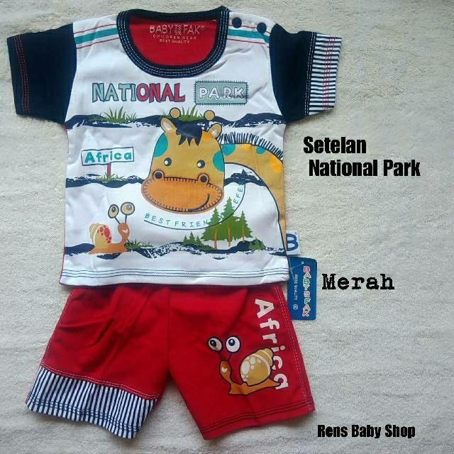 harga Baju setelan celana pendek anak bayi laki-laki national park Tokopedia.com