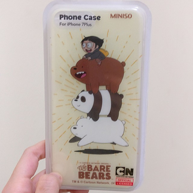 best website 3a601 02cac Jual We Bare Bears x Miniso Phone Case for iPhone 7 Plus - DKI Jakarta -  Wolfie Shop | Tokopedia
