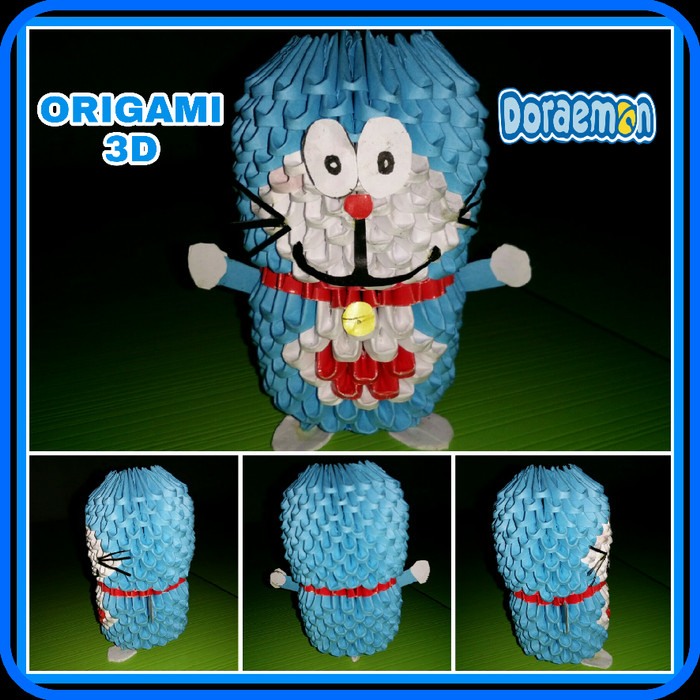 Doraemon and Dorami 3D origami by brookorigami on DeviantArt | 700x700