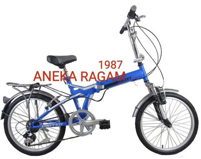 harga Sepeda lipat 20 united quest shock depan biru. Tokopedia.com