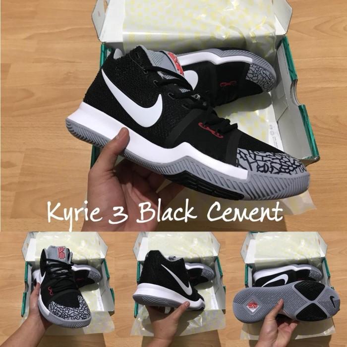 online store 58a5d f9a9c Jual Sepatu Basket Kyrie 3 Black Cement White Grey Hitam Putih Abu - Kota  Batam - Elite Basketball Store | Tokopedia