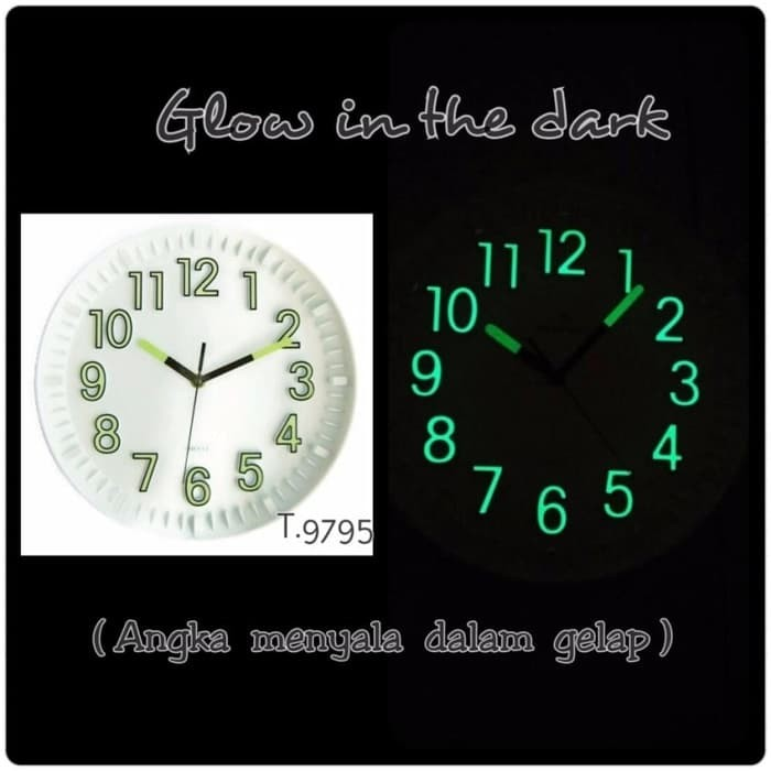 Jual Jam Dinding Meridient Glow in the Dark Jalan Halus - Bonus ... 8b4712815b
