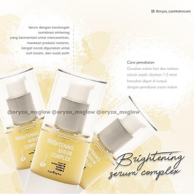 """""""Brightening serum complex,"""